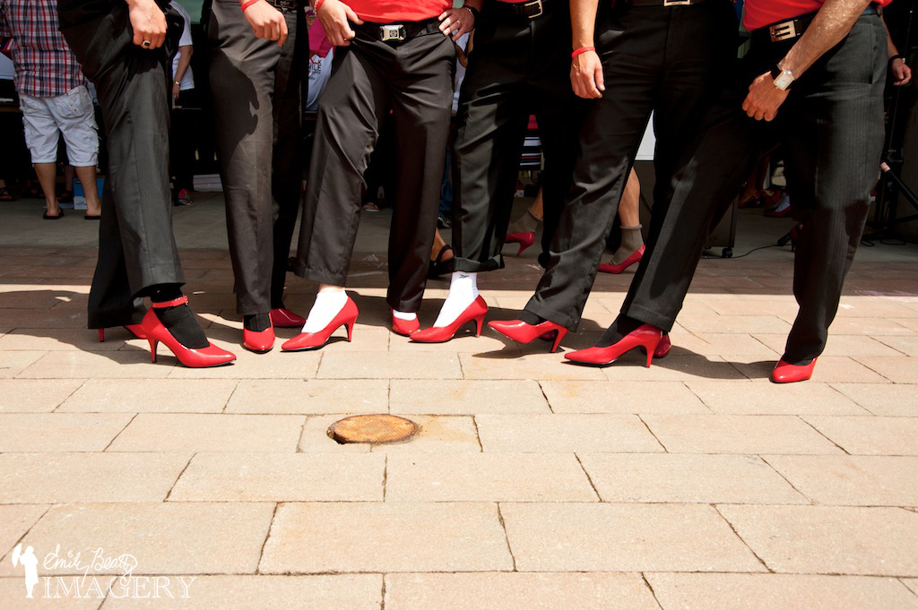 Top fundraisers at Walk A Mile In Her Shoes 2013
