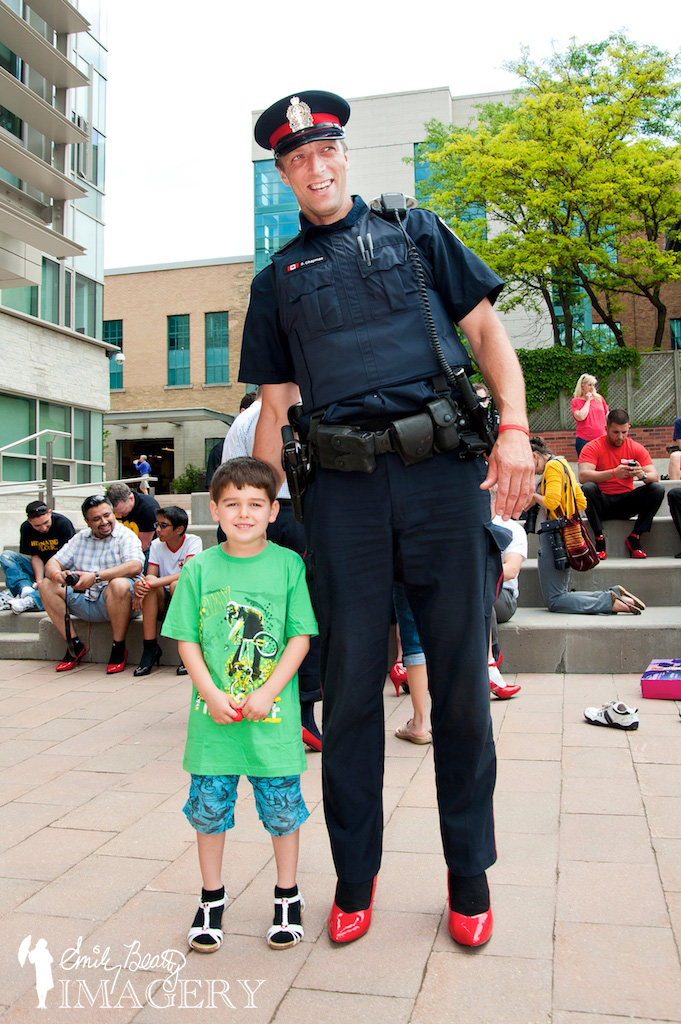 Walk A Mile In Her Shoes 2013 tallest and smallest.