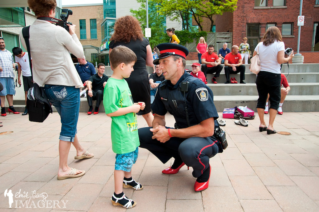 Police at Walk A Mile In Her Shoes 2013