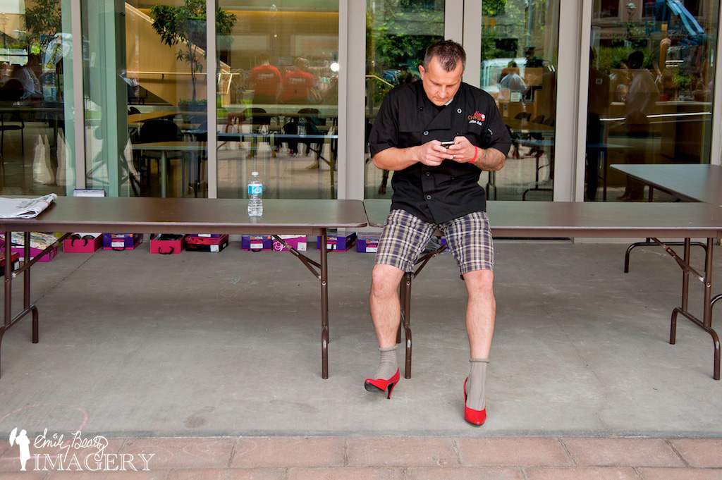 Texting at Walk A Mile In Her Shoes.
