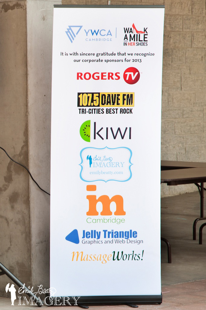 Banner at Walk A Mile In Her Shoes 2013