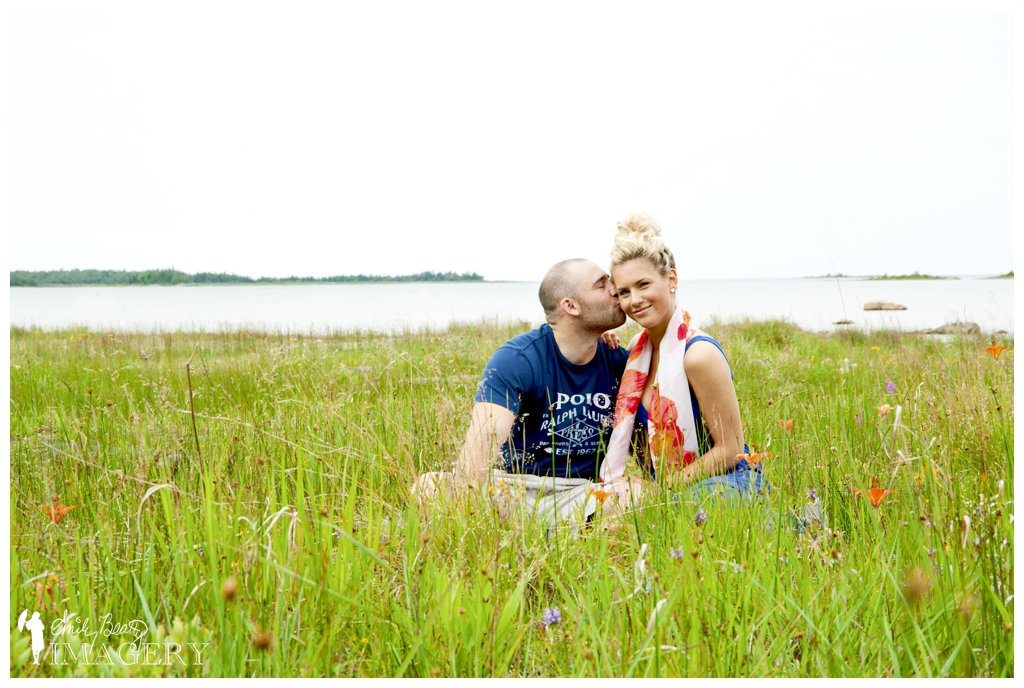 Natural light family portraits on the beach in Oliphant, Ontario.
