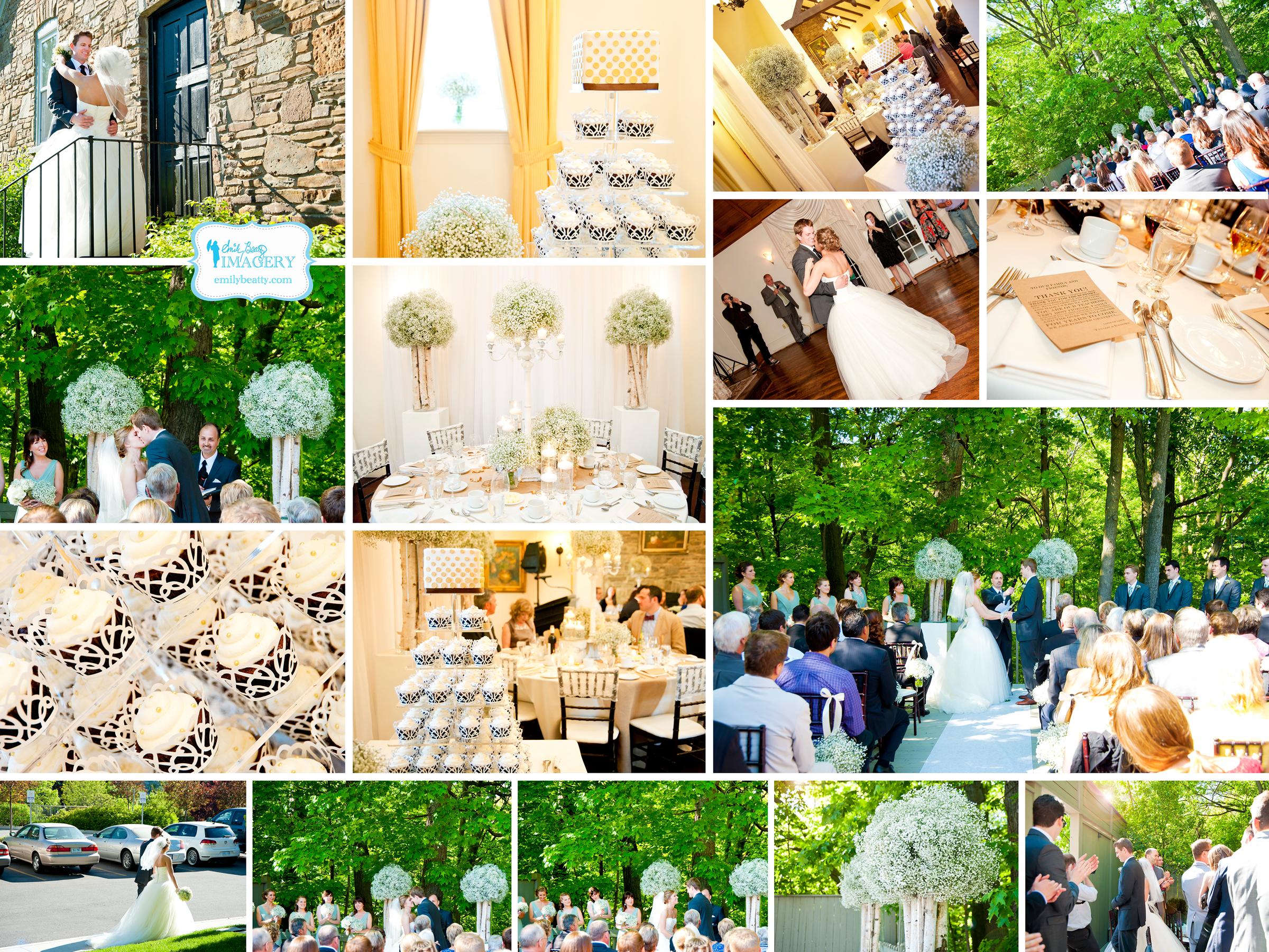 Shabby chic wedding at the Glenerin Inn