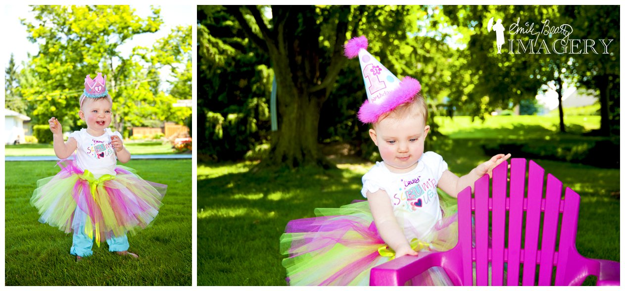 Outdoor first birthday pics.
