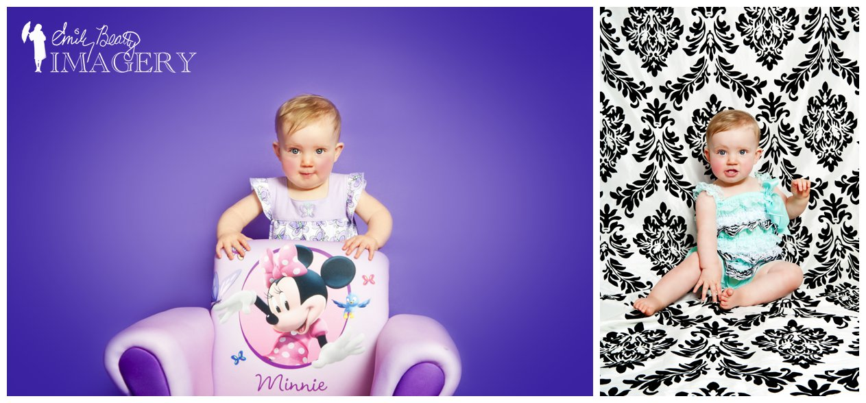Minnie mouse and purple for this birthday portrait.