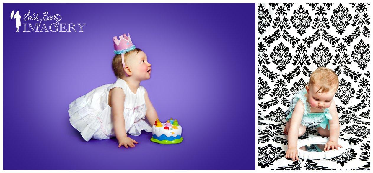 Birthday cake portrait.