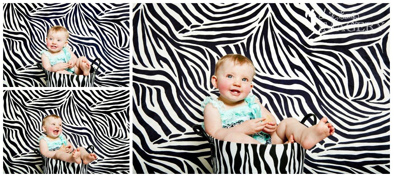 zebra themed portrait