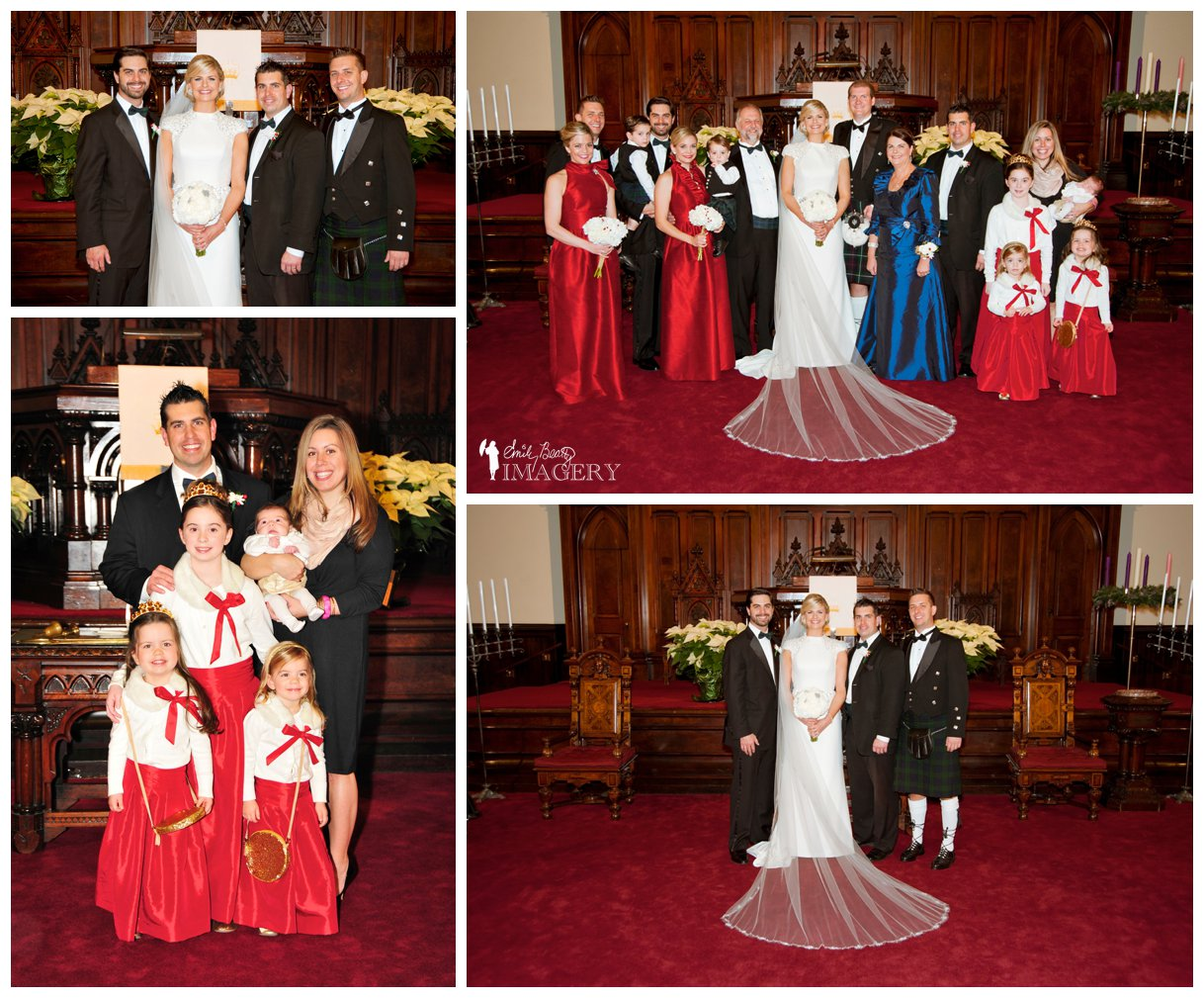 December, Christmas wedding in Cincinnati, Ohio by Emily Beatty Imagery.