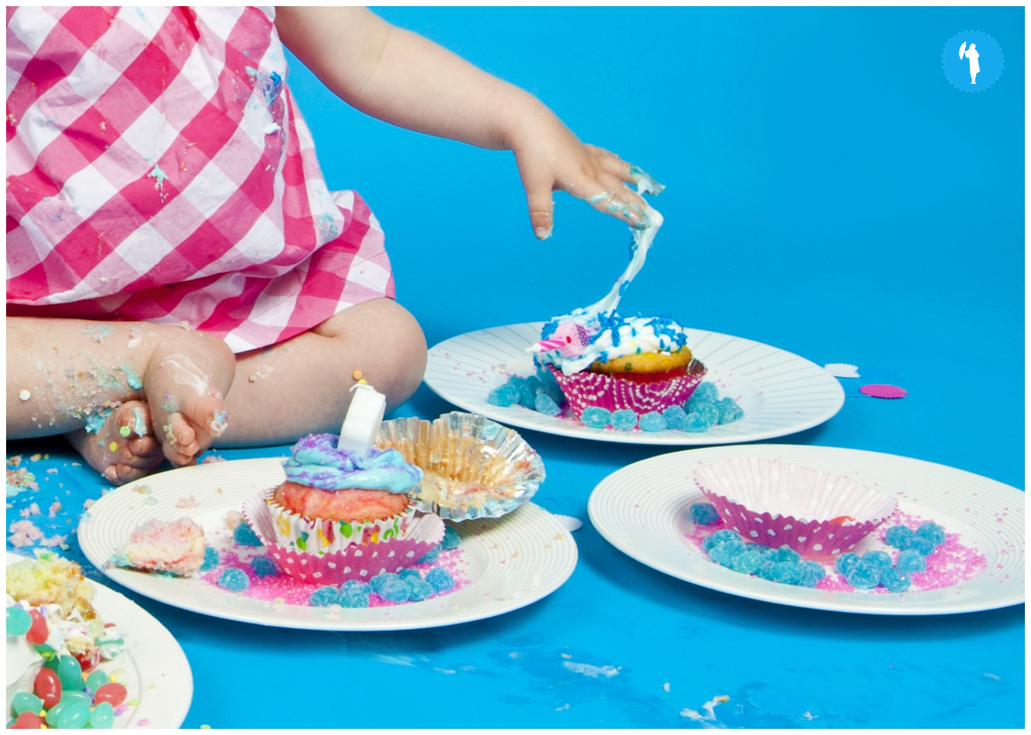 Cake smash photography in Kitchener, Waterloo, Guelph area.