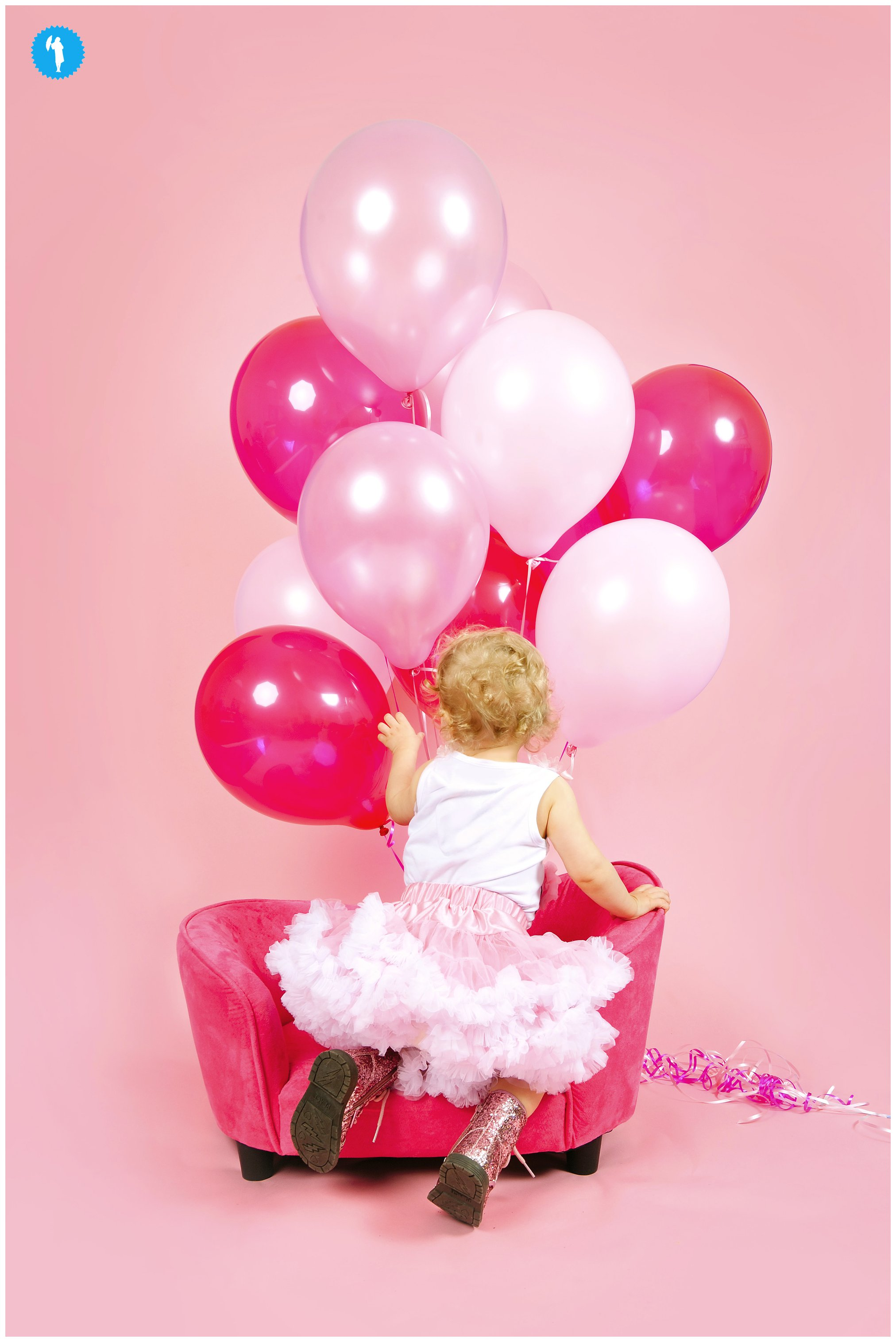 First birthday portraits by Emily Beatty Imagery.