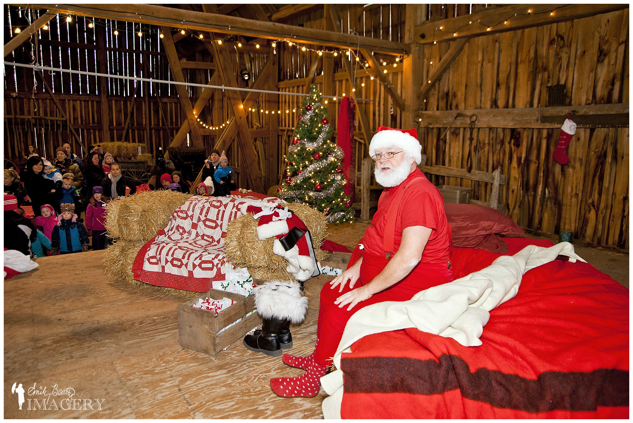 Santa at Steckle Heritage Farm.