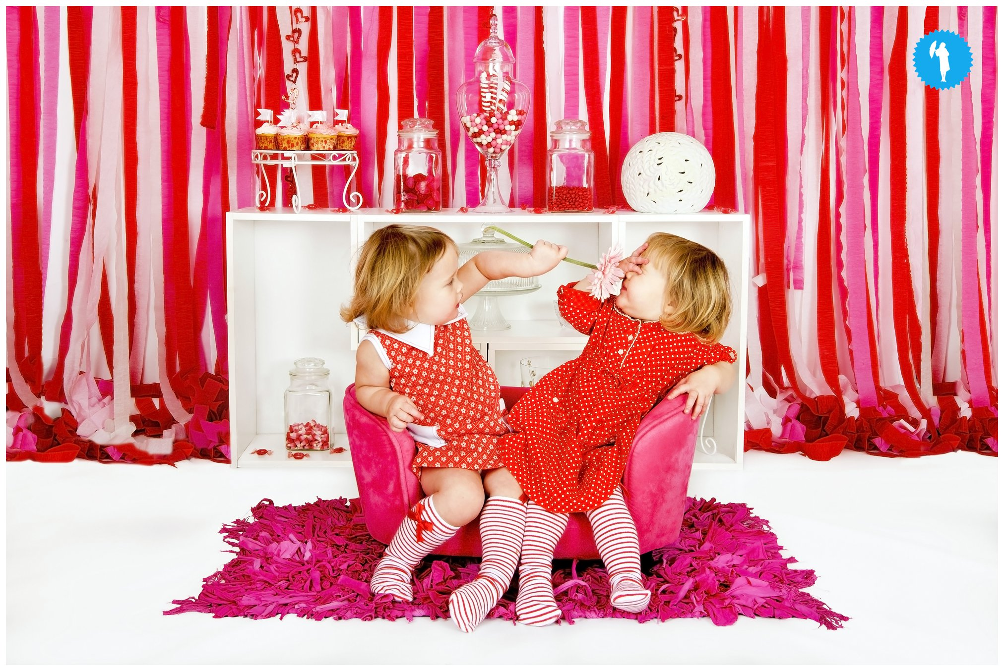twin sisters Valentine's Day