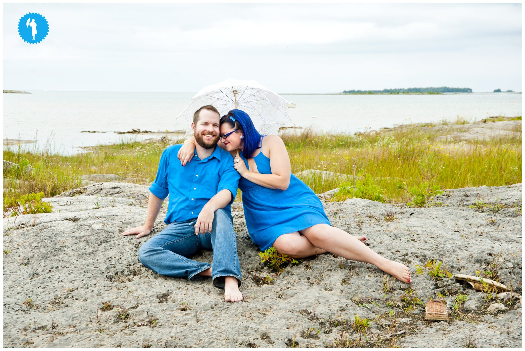Couple's portrait, summer 2013.