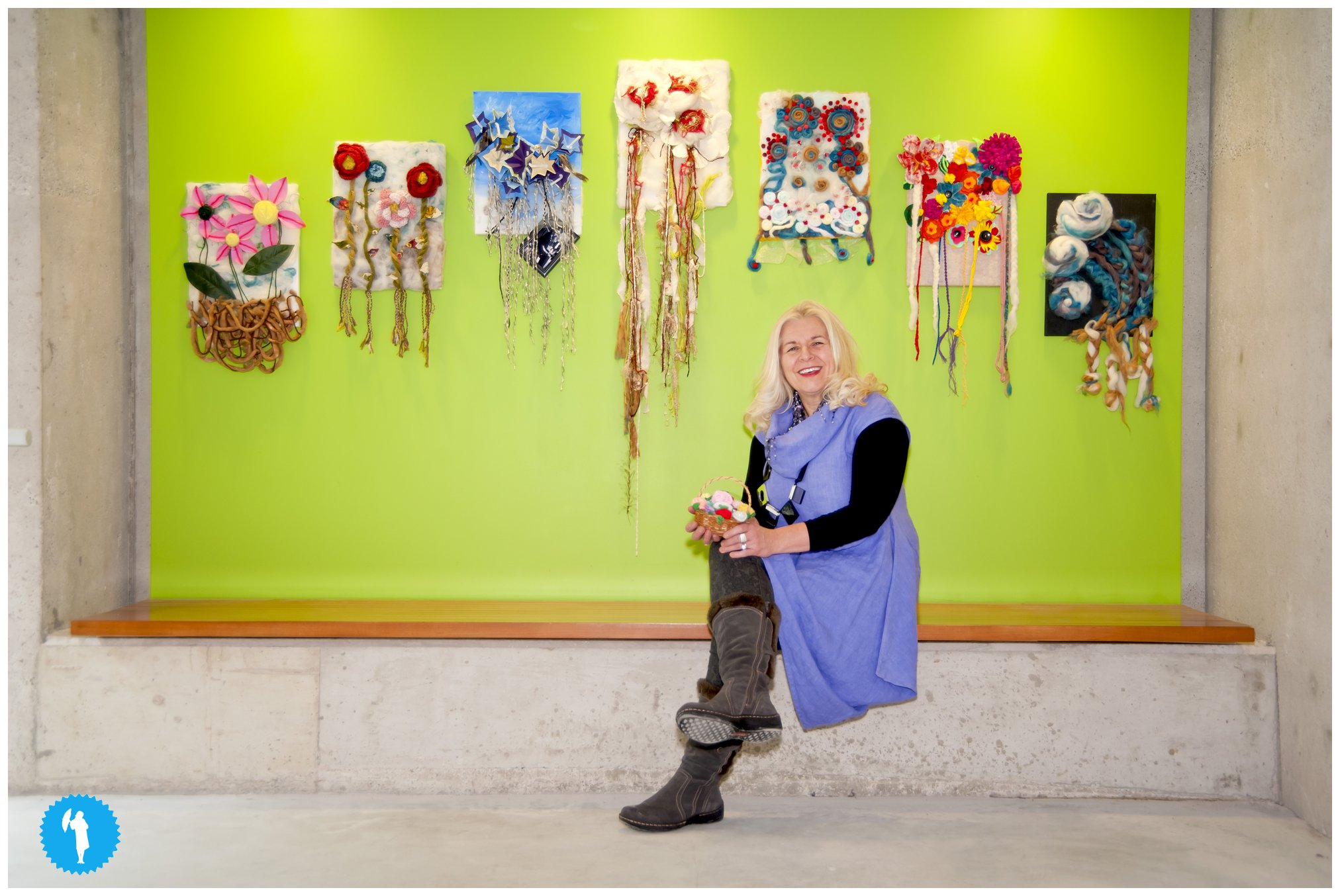 Sue Sturdy and the Secret Garden textile project at PAMA. 2013. Photo by Emily Beatty