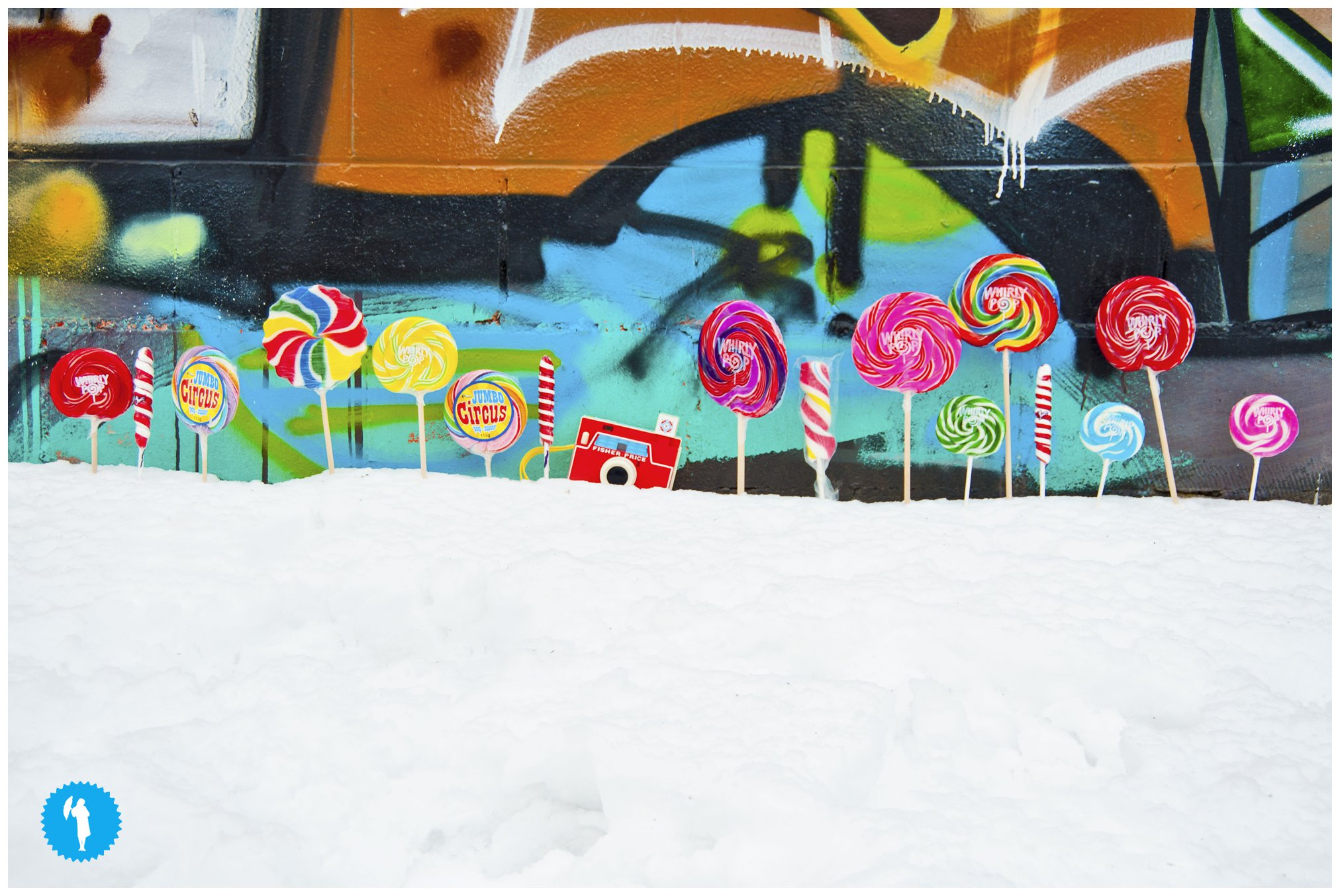 graffiti in Kitchener with lollipops