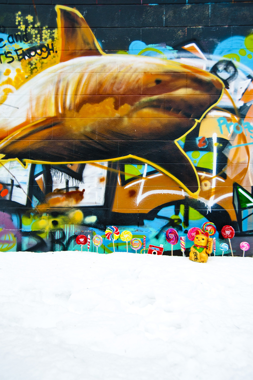 Chris Austin graffiti photos by Emily Beatty.