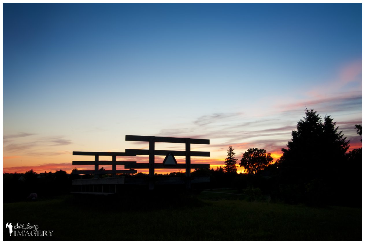 Steckle Heritage Farm sunset